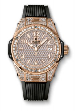 BIG BANG ONE CLICK KING GOLD FULL PAVÉ 39 mm - 465.OX.9010.RX.1604