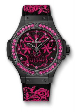 BIG BANG BRODERIE SUGAR SKULL FLUO HOT PINK 41 mm - 343.CP.6590.NR.1233