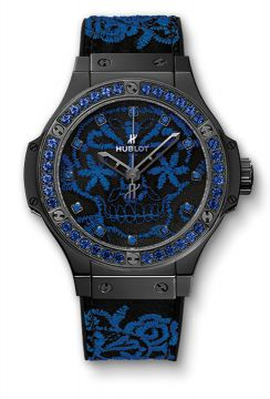 BIG BANG BRODERIE SUGAR SKULL FLUO COBALT BLUE 41 mm - 343.CL.6590.NR.1201
