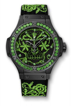 BIG BANG BRODERIE SUGAR SKULL FLUO MALACHIK GREEN 41 mm - 343.CG.6590.NR.1222