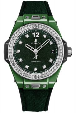 BIG BANG ONE CLICK ITALIA INDEPENDENT DARK GREEN VELVET 39 mm - 465.GX.277G.NR.1204.ITI18