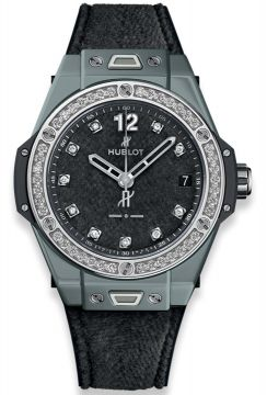BIG BANG ONE CLICK ITALIA INDEPENDENT DARK GREY VELVET 39 mm - 465.FX.277F.NR.1204.ITI18