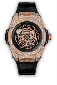 BIG BANG SANG BLEU KING GOLD PAVÉ 39 mm - 465.OS.1118.VR.1704.MXM18