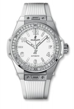 BIG BANG ONE CLICK STEEL WHITE DIAMONDS 39 mm - 465.SE.2010.RW.1204