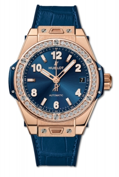 BIG BANG ONE CLICK KING GOLD BLUE DIAMONDS 39 mm - 465.OX.7180.LR.1204