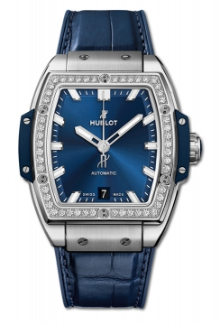 SPIRIT OF BIG BANG TITANIUM BLUE DIAMONDS 39 mm - 665.NX.7170.LR.1204