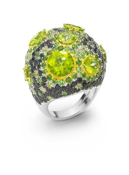 HAUTE COUTURE GREEN PERIDOTS RING - AZV364RI0114