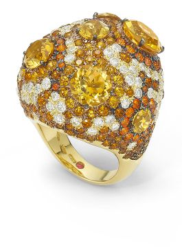 HAUTE COUTURE CITRINE RING  - ADV364RI0115