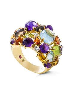 SHANGHAI COLOURED STONES RING - ADV888RI0699