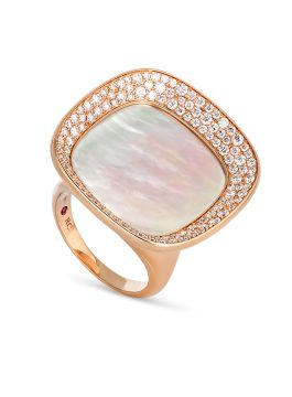 CARNABY STREET MOTHER OF PEARL RING - ADV888RI1357