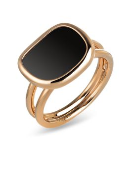 BLACK JADE PINK GOLD RING - ARV888RI1014