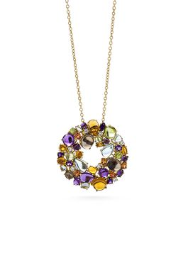 SHANGHAI COLOURED STONES PENDANT - ADV888CL0699