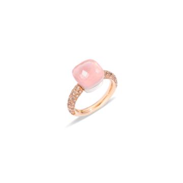 Rose Quartz Nudo Classic Ring - A.C004BRO6/QR