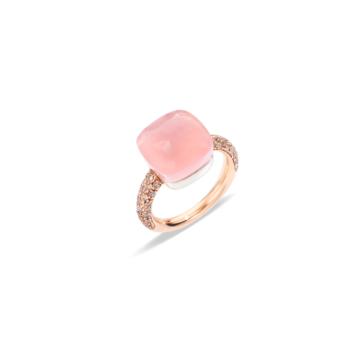 Rose Quartz Nudo Maxi Ring - A.B401/BRO6QR
