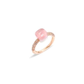 Rose Quartz Nudo Petit Ring - A.B704BRO6/QR