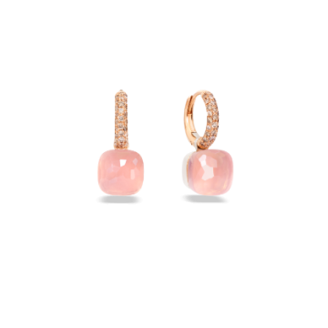 Rose Quartz Nudo Classic Earrings - O.B401/BRO6QR
