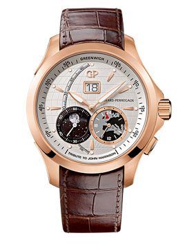 Traveller LARGE DATE, MOON PHASES & GMT, LIMITED EDITION TRAVELLER JOHN HARRISON - 49655-52-133-BBBA