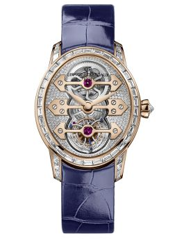 CAT'S EYE TOURBILLON WITH THREE GOLD BRIDGES - 99495D52B00A-CK6A